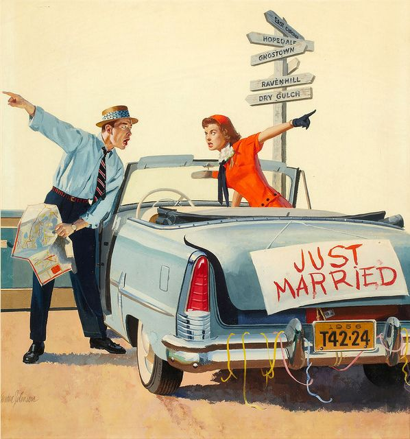 Just Married (Gordon Johnson) by oldcarguy41, via Flickr