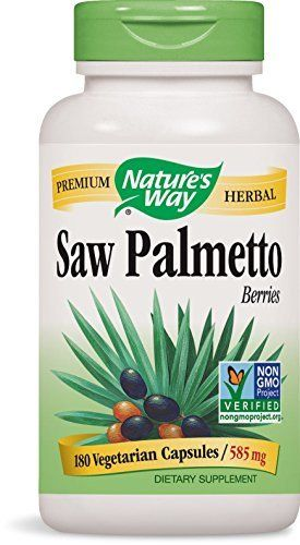 Nature's Way Saw Palmetto berries are beneficial to men seeking to maintain an active lifestyle, support urinary tract function and promote prostate health. Nature's Way Saw Palmetto berries have been independently tested by TRU-ID to ensure authenticity and certified to contain 585 mg... more details at http://supplements.occupationalhealthandsafetyprofessionals.com/herbal-supplements/saw-palmetto/product-review-for-natures-way-saw-palmetto-berries-585-mg-saw-palme
