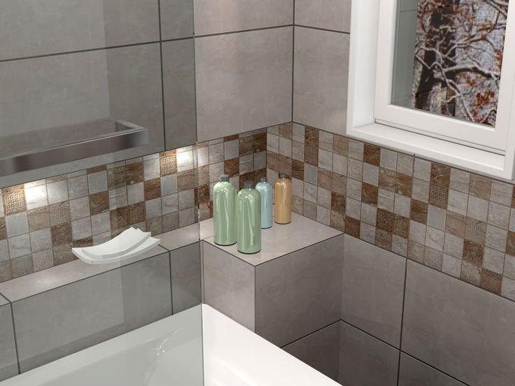 Πλακάκια μπάνιου July beige 25 x 40 cm