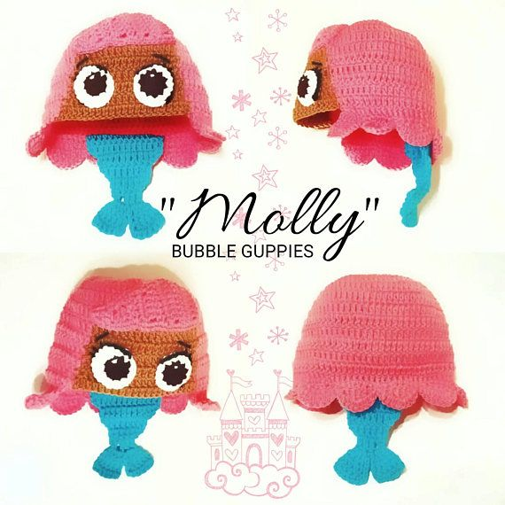 Check out this item in my Etsy shop https://www.etsy.com/listing/258301995/molly-bubble-guppies-hat-bubble-guppies