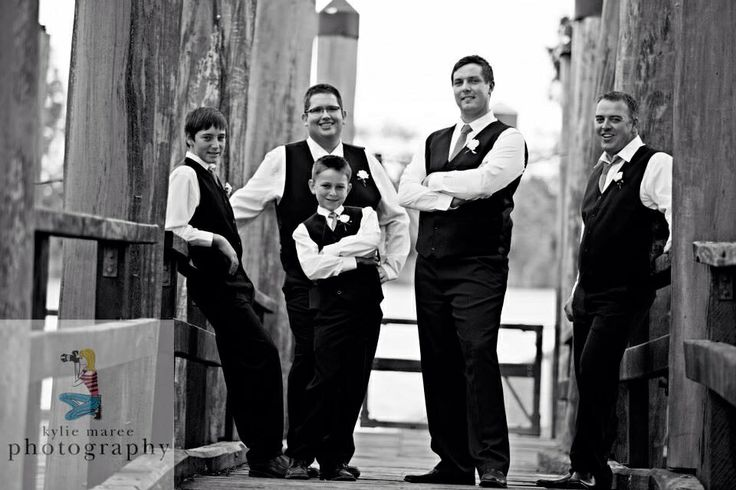 Too cool for school! Groom and groomsmen