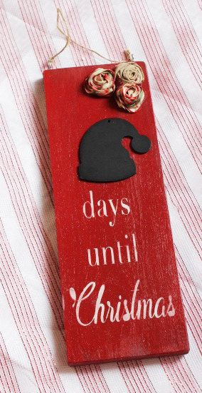 Christmas Countdown sign countdown to Christmas sign by RusticRuox