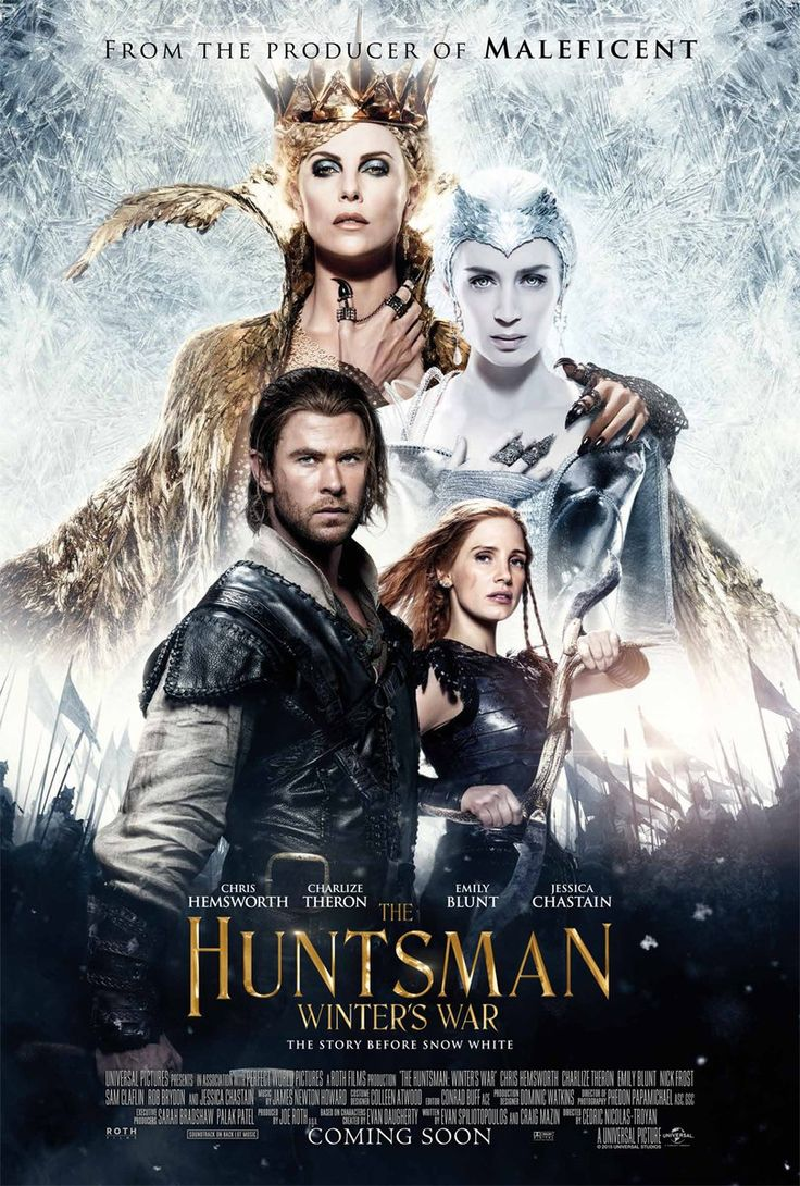 The Huntsman Winter's War (April 2016) - Better than the original. Its got more humor and no Kristen Stewart. Quite a good story. Chris Hemsworth is charming, the dwarves fun and the queens beautifully horrid.