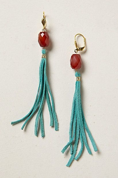 Woo Hoo!! These will be fun for Fall with jeans and a neutral sweater! Faceted Fringe Drops #anthropologie: