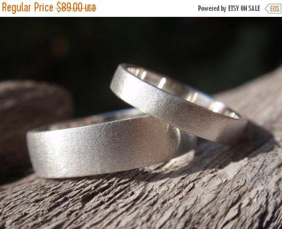 SALE 10% OFF wedding bands set of 2 wedding ring set by preciousjd
