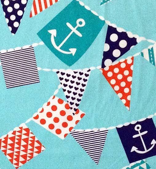 nautical themed bunting.