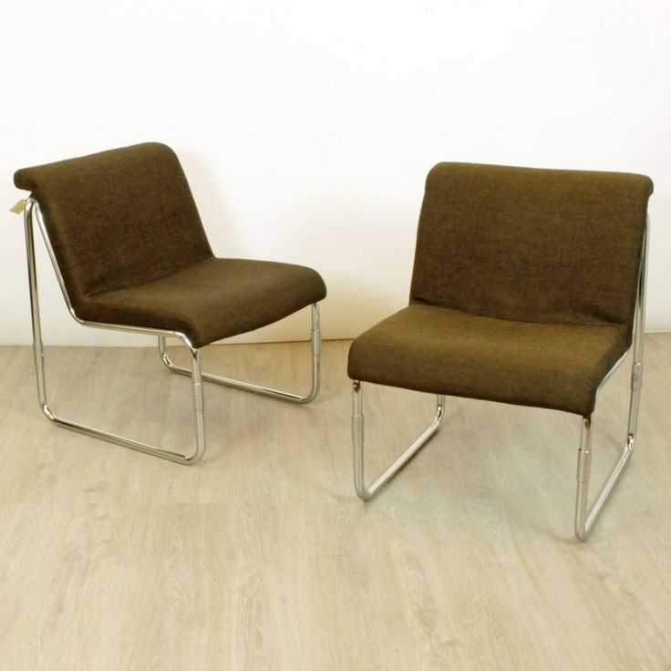 SET OF 2 LOUNGE CHAIRS FROM THE EIGHTIES BY UNKNOWN DESIGNER FOR MILJÖ EXPO