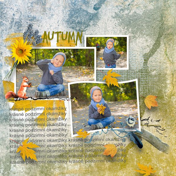 October 2015 challenge Just Art - Template05 by Robyn Just Art