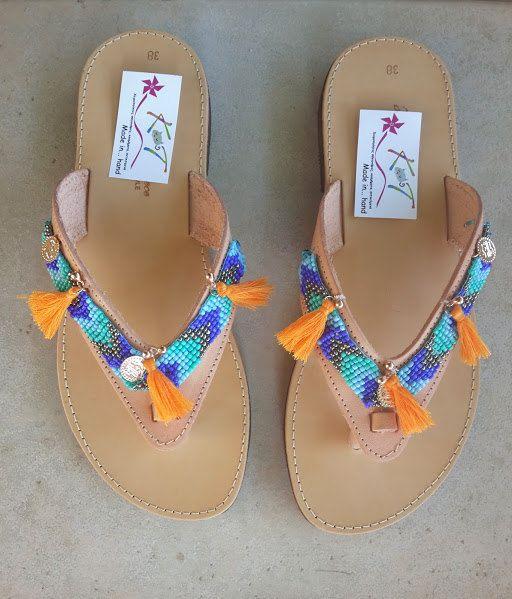 Boho chic Sandals / Women Leather Sandals / by MadeInHandKat