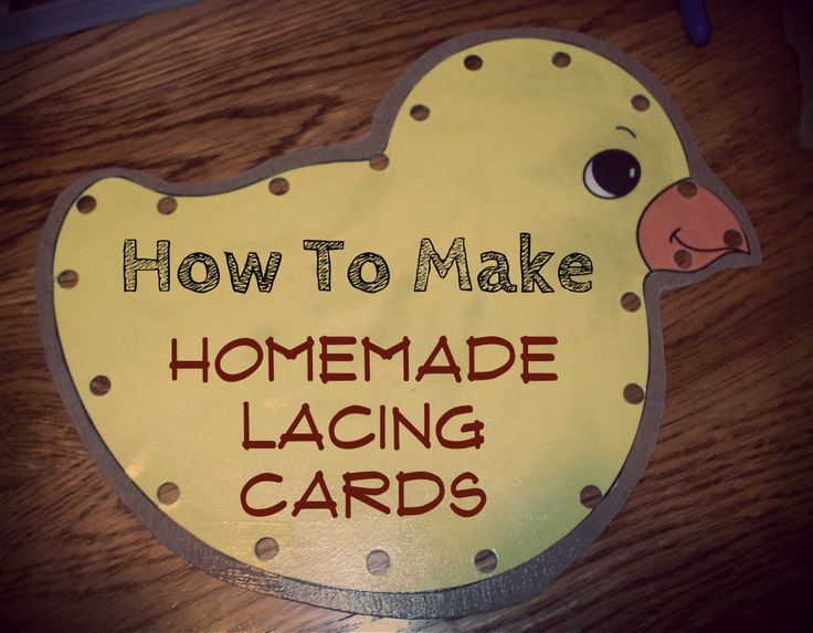 How to make homemade lacing cards @thesetemptents #crafts #kids