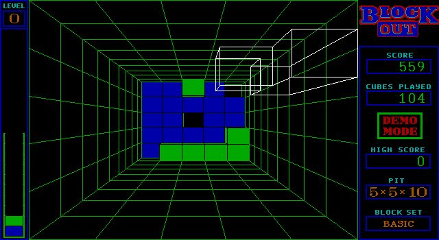 BlockOut - old dos game.