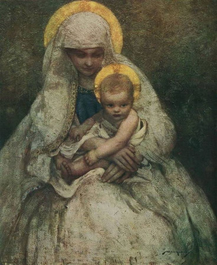 Viktor Vasnetsov (Russian, 1848–1926) Mary and Child, St Volodymyr's Cathedral in Kiev.