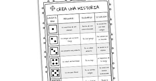 """Os dejamos este maravilloso recurso del espacio """"Ideal Educa"""" muy útil para trabajar la creación literaria. Se trata de una tabla do..."""