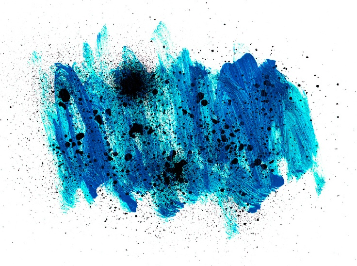blue painted spray paint texture
