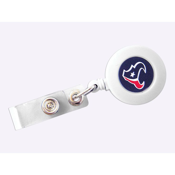 Aminco NFL Houston Texans Retractable Badge Reel ID Ticket Clip