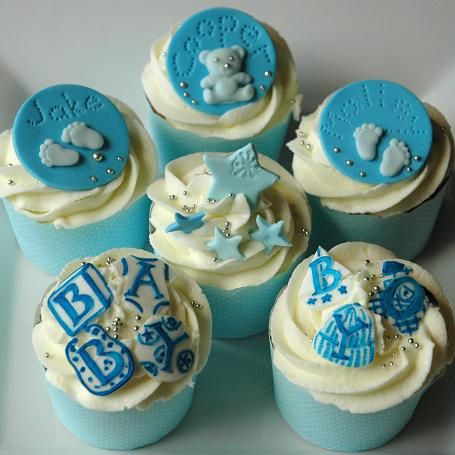 Find This Pin And More On Bay Boy Shower Cakes. Blueberry Baby Shower  Cupcakes ...