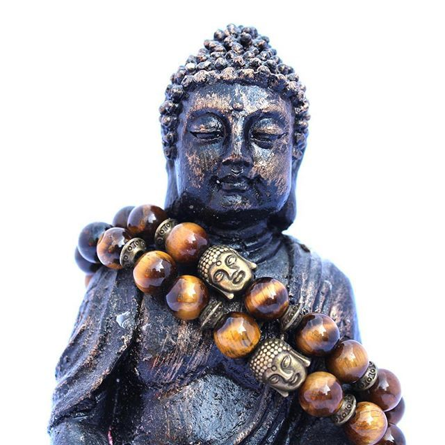 Check out our #buddha collection. More models are Coming soon!  Get yours now, use GRAND20 for 20% discount on your order!! #happy #staytuned #lovethem #beadedjewelry #semiprecious #stones #tigereye #discount
