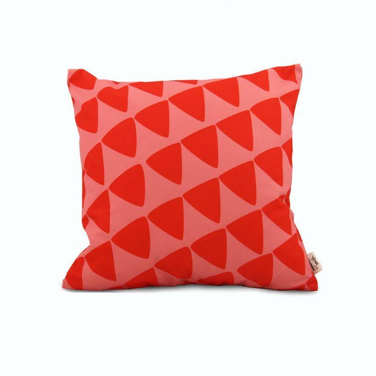 Sorbet Triangles - Jennifer + Smith Cushion NZ Stockist