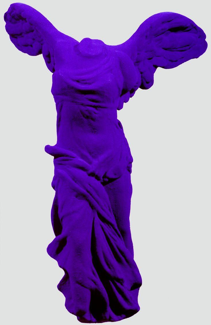 Reminiscent of La Victoire de Samothrace - Yves Klein