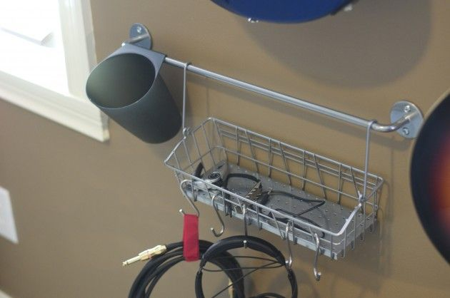 ikea hanging wire basket and rod spmcroom pinterest