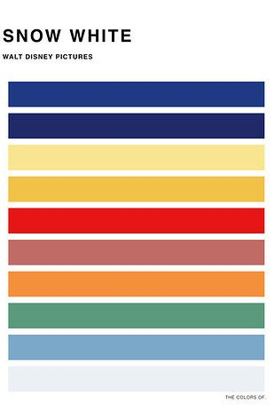 These minimalist movie color palette posters. | 33 Magical Disney Decorations You Need In Your Life