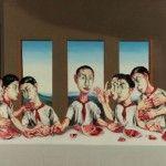 """Zeng Fanzhi hizo la reinterpretación de """"La Última cena"""", se subastó por 23.3 millones dólares, un nuevo récord para una obra asiática contemporánea."""