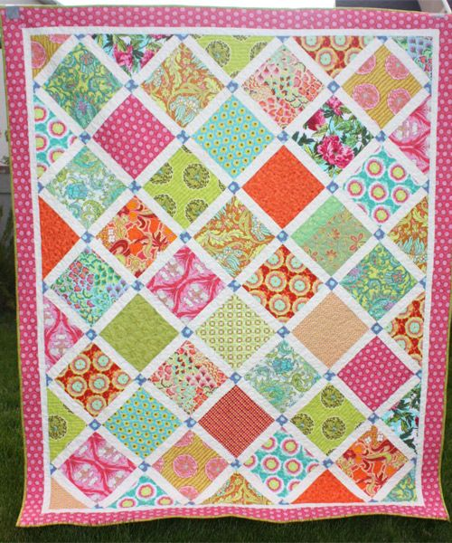 Layer Cake Quilt As You Go : Lattice Quilt pattern by Amy Smart Cool Quilt Patterns ...