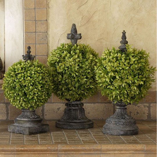 Boxwood Topiary with Finial SetGardens Ideas, Finials Boxwood, Decor Ideas, Boxwood Topiaries Too, Decor Inspiration, Seasons Design, Gardens Stories, Inside Gardens, Savvy Seasons