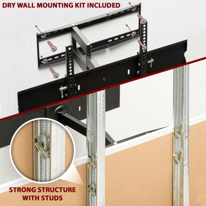 Condomounts Metal Stud Tv Wall Mounting Kit Heavy Duty Wall Mounting Without Studs Or Through Metal Steel Studs Tv Wall Wall Mounted Tv Wall Mounted Tv Decor