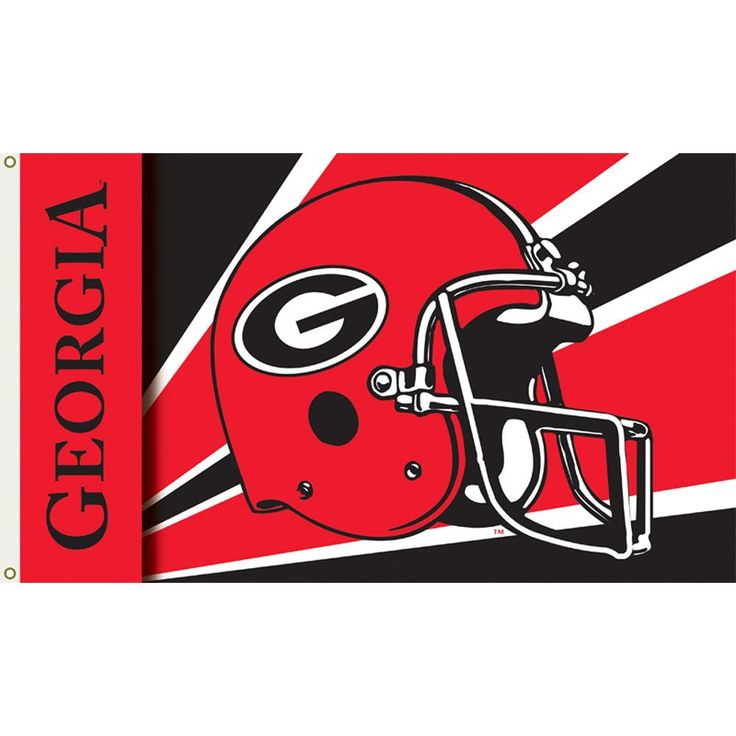 Georgia Bulldogs Football Helmet Flag
