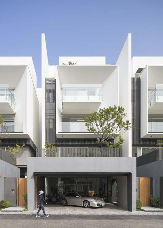 Belle architecture forment maisons adjacentes