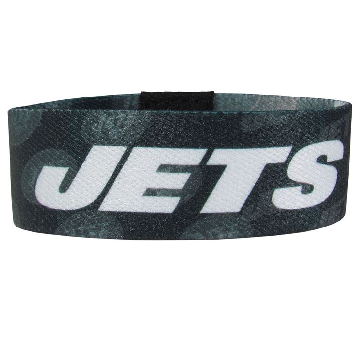 """Checkout our #LicensedGear products FREE SHIPPING + 10% OFF Coupon Code """"Official"""" New York Jets Stretch Bracelets - Officially licensed NFL product Licensee: Siskiyou Buckle Stretch fabric for comfortable fit for most wrist sizes Dye sublimation graphics are sharp and bright Bracelet features the team name and logo with repeating graphics A must have for any New York Jets fan! - Price: $14.00. Buy now at https://officiallylicensedgear.com/new-york-jets-stretch-bracelets-fewb100"""