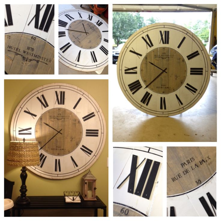 Huge 4ft Clock Love It Pottery Barn Look Home Decor