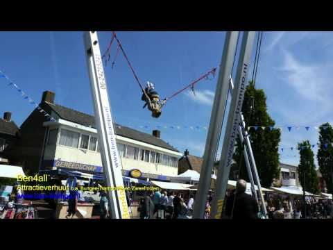 BungeeTrampoline feest in Schalkhaar www.ben-trampo.nl