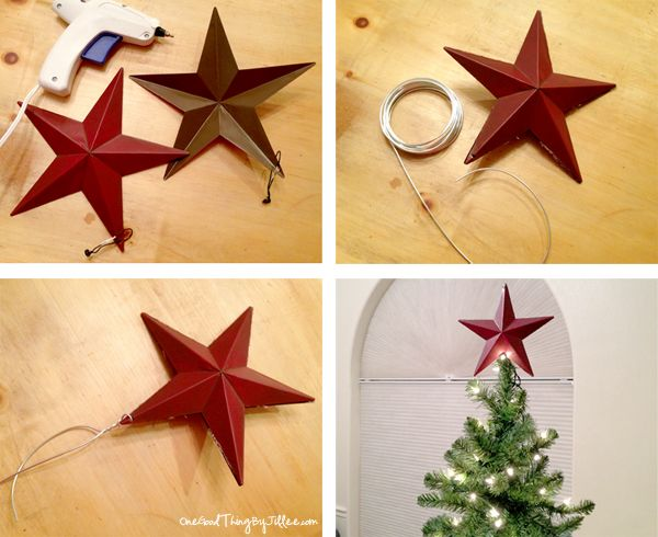 Thinking Outside The Ornament Box!   Make your own tree toppers are more....
