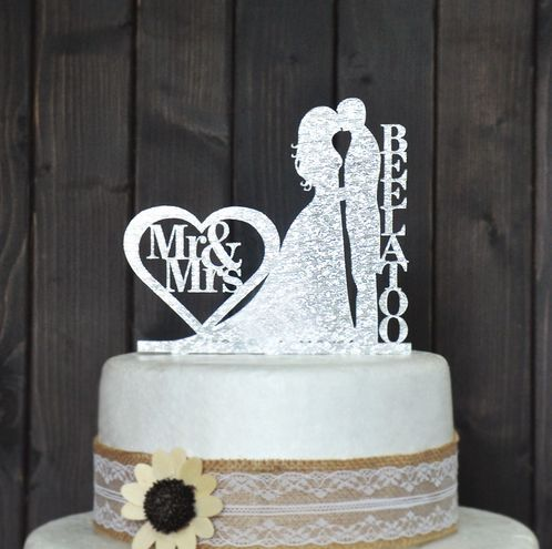 Custom Wedding Cake Topper Personalized With Your Last Name