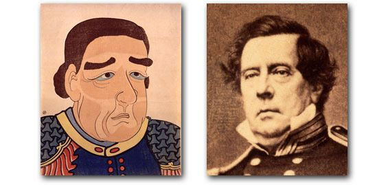 """WEBSITE: Commodore Perry:To date (2006), Visualizing Cultures uses Japan since the mid-19th century as a case study for gaining new perspectives on """"cultures"""" in the broadest sense—the """"cultures,"""" for example, of Westernization, modernization, changing modes of technology and mass communication, imperialism, nationalism, militarism, racism, commercialization and consumerism, etc."""