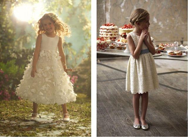 Hoje vou casar assim: Vestidos para meninas das alianças ou meninas das flores