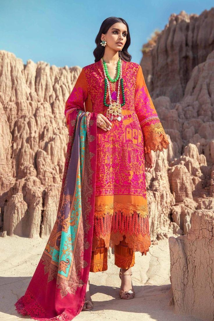 Latest Sana Safinaz Winter Shawl Dresses Collection 2020 ...