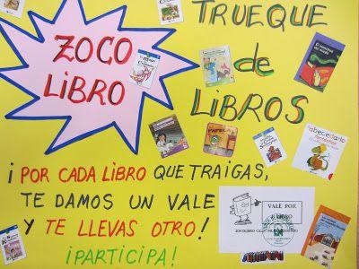 Trueque de libros. Biblioteca C.E.I.P. Pilar Izquierdo: abril 2013
