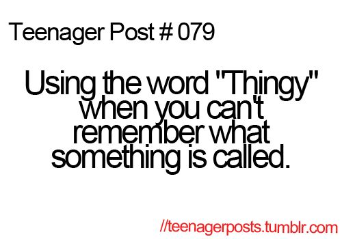 """Um yeah you know the thingy! Then tries to describe the """"thingy"""" using the word thingy."""