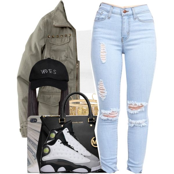 A fashion look from October 2015 featuring Topshop tops, H&M jackets and MICHAEL Michael Kors handbags. Browse and shop related looks.