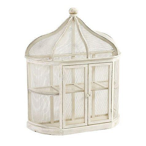 Ballard Designs Aviary Birdcage Decorative Shelf, Aged White