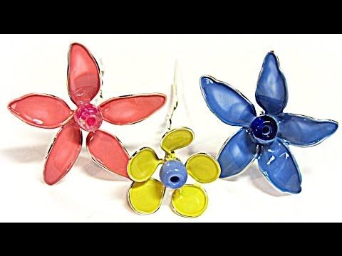 DIY FLORES DE ALAMBRE Y ESMALTE, TRANSPARENTE, COMUNIONES Y ADORNOS- FLOWERS WIRE AND VARNISH - YouTube