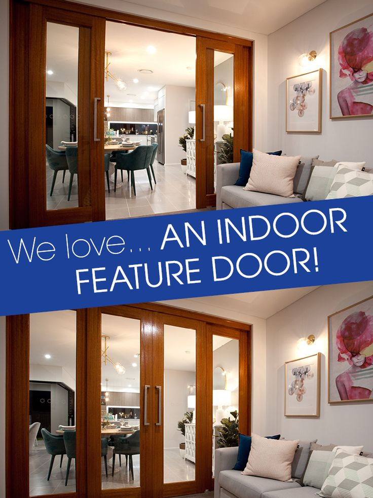 We love... an indoor feature door!