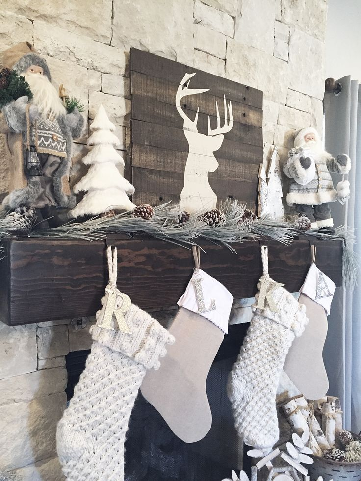 rustic farmhouse christmas decor and affordable christmas stockings - DIY's and more!