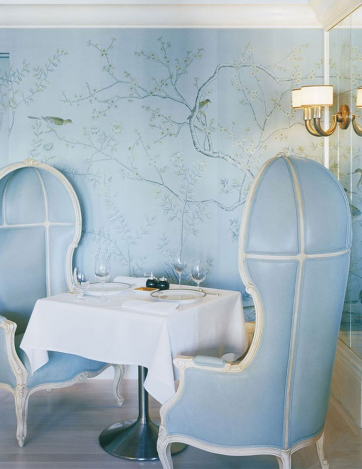 The Bergdorf Goodman Restaurant, New York | #blue #cozy #restaurant