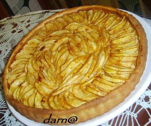 tarte aux pommes à la crème patissière et cassonade - Darna