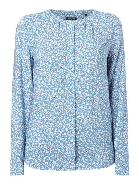Bluse mit floralem Muster Blau / Türkis - 1
