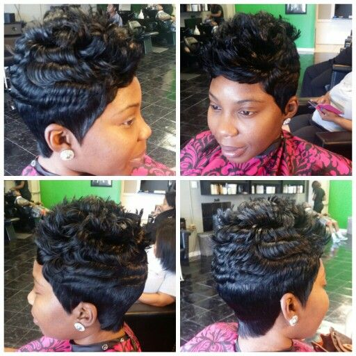 ... short cuts on Pinterest | Quick weave, Black hair salons and Short